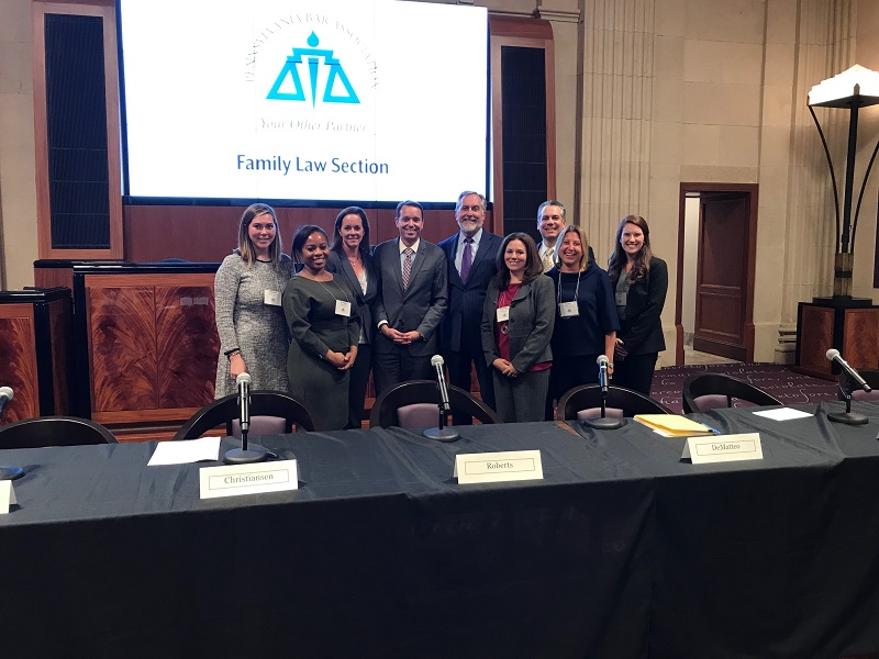 Vetrano Family Lawyer Sarinia Childs Spoke at a Recent Pennsylvania Bar Association Family Law Section event in Philadelphia